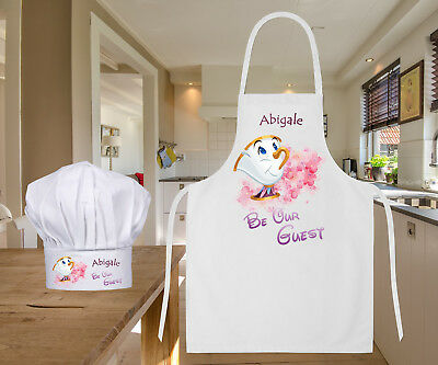 Personalised Disney Beauty & The Beast Baking Cooking Apron Ideal Birthday Gift
