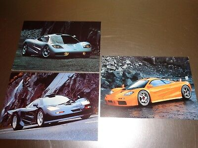 3 McLaren F1 Road Car Postcards. Official and from Manufacturer