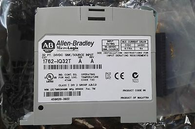 One Used AB Allen Bradley 1762-IQ32T 32 Point 24 VDC Source Input Module
