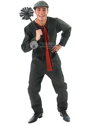 Adult Mens Chimney Sweep Bert Mary Poppins Book Day Week Fancy Dress Costume