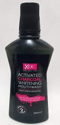 Charcoal Whitening Mouthwash Xoc Deep Stain Removal Reduce Plaque Germs 500ml