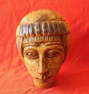 Ptolemaic statue head of a Ancient Egyptian man