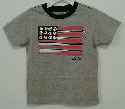 Gymboree Boys Toddler Short Sleeve Graphic T-Shirt Gray Size 18-24 Months 7046