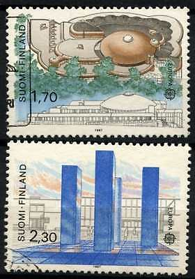 FInland 1987 SG#1128-9 Europa, Art & Architecture Used Set #D77069