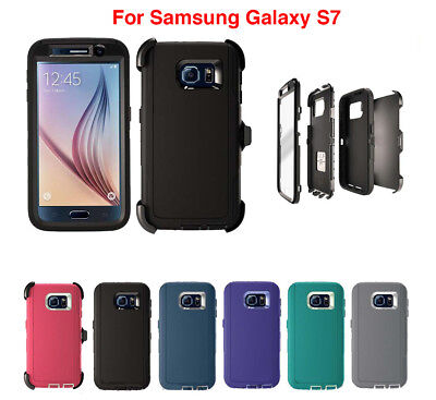 Defender Case Cover For Samsung Galaxy S7 (Belt Clip Fits Otterbox Defender) USA