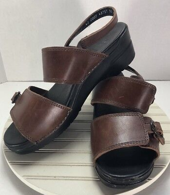 dbd35fdba70 Dansko Women s EUR Size 42   US 11.5-12 Brown Leather Ankle Strap Sandals -