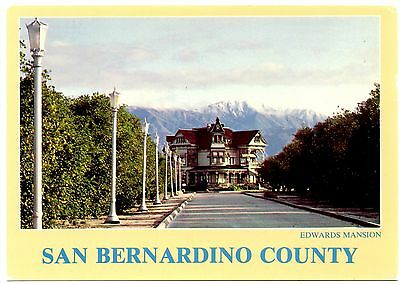 Edwards Mansion San Bernardino County Postcard California County Museum Unposted