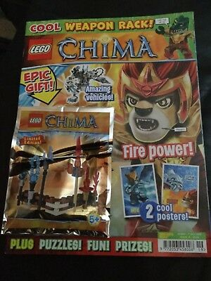 LEGO LEGENDS OF CHIMA MAGAZINE ISSUE 19 with toy