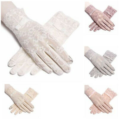 Driving Gloves Women New Summer Anti UV Sun Protection Lace Touch Screen Mittens