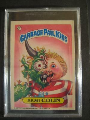 GARBAGE PAIL KIDS 1980s 355b SEMI COLIN ERROR CARD WITH NO NUMBER. 9th series