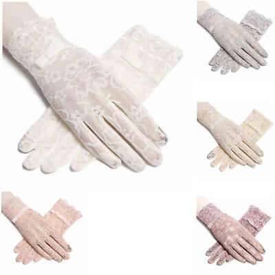 Protection Gloves New Summer  Anti UV Driving Touch Screen Thin Lace For Women