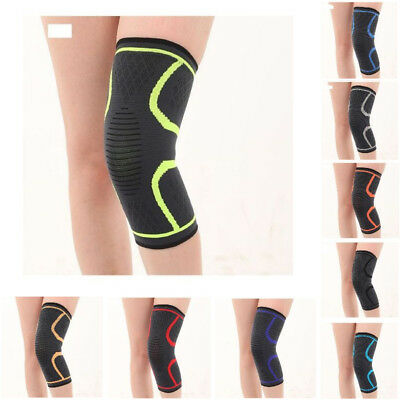 2X Knee Compression Sleeve Support Brace For Sport Joint Pain Arthritis Relief