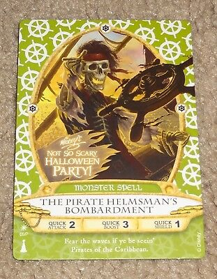 Sorcerers of the Magic Kingdom PIRATE HELMSMAN Card Not So Scary Halloween Party
