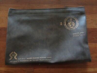 Vintage 70s 1978 World Congress Of Free Ukrainian s Americana Hotel pouch