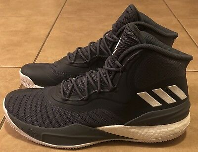 e34f52832fc2 Adidas D Rose 8 Size 12.5 Grey White Boost Derrick Rose Basketball Cq1620