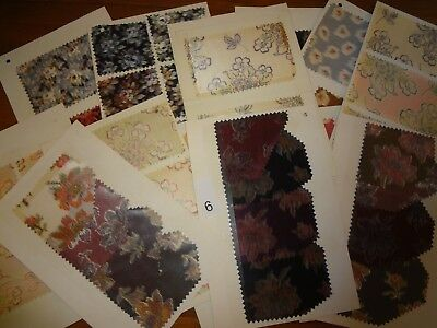 Antique Vintage fabric lot 13 carded swatch samples Silk 1900 - 1910 American