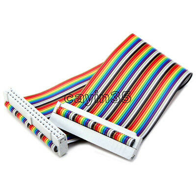 40PIN Way GPIO Rainbow Ribbon Cable for Raspberry Pi Model B / Model B+ 20cm UK