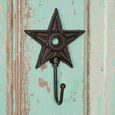 Cast Iron Metal Vintage Architectural Star Hook Rustic vintage primitive decor