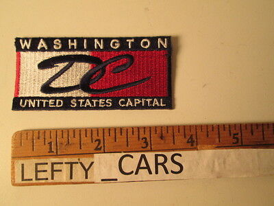 Washington Dc United States Capital Embroidered Cloth Patch - Sew On Type