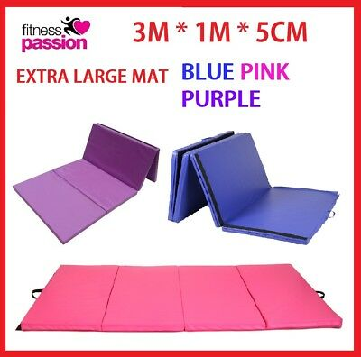 3M*1M*5CM LARGE Gymnastics Mat Gym Folding Panel Yoga Exercise Tumbling Pad