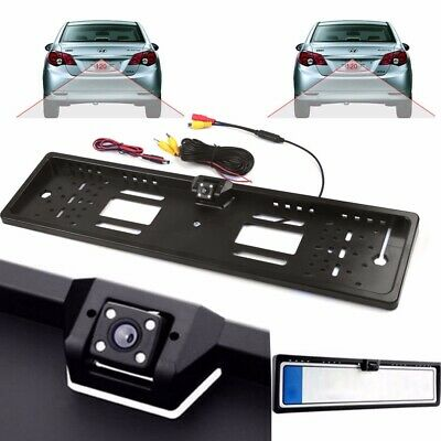 Car EU License Number Plate Rear View Backup Reverse Camera 4LED Night Vision