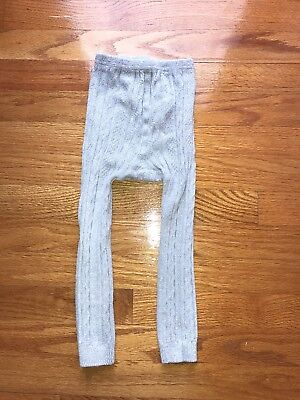 Mini Boden Girls Footless Gray Sweater Tights Size 3-4 Years