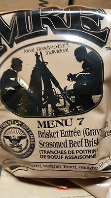 MRE Beef Brisket 2020 Meals Ready To Eat US Military MREs FREE SHIPPING Meal 7