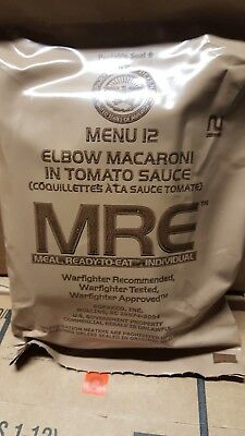 MRE Macaroni 2020 Meals Ready To Eat US Military MREs FREE SHIPPING Meal 12 SALE