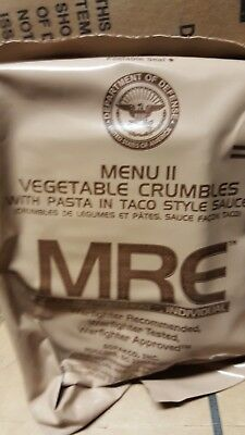 MRE Vegetable Crumbles 2020 Meals Ready To Eat US Military MREs FREE SHIPPING 11