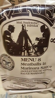 MRE Meatballs 2020 Meals Ready To Eat US Military MREs FREE SHIPPING Meal 8