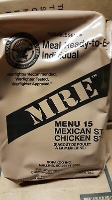 MRE Chicken Stew 2020 Meals Ready To Eat US Military MREs FREE SHIPPING Meal 15