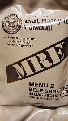 MRE Beef Shredded BBQ 2020 Meals Ready To Eat US Military MREs FREE SHIPPING 2