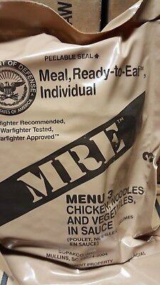 MRE Chicken and Noodles 2020 Meals Ready To Eat US Military MREs FREE SHIPPING 3