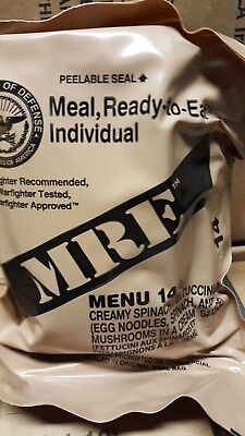 MRE Spinach Fettuccine 2020 Meals Ready To Eat US Military MREs FREE SHIPPING 14