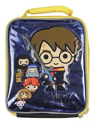 Harry Potter Lunch Box Soft Kit Insulated Bag Chibi Hogwarts New Bag