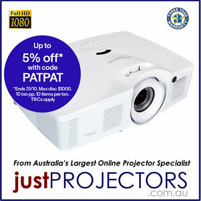 Optoma EH416 FULL HD 4200 Lumen Projector. Genuine Optoma 3yr Aussie Warranty