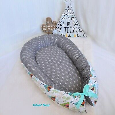 Baby Nest Bed for Newborn Girl Snuggle Travel Sleeper Flamingo Crib Bedding