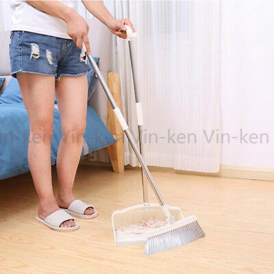 Dustpan and Brush Broom Set Dust Pan Home Floor Cleaning Sweep with Long Handle