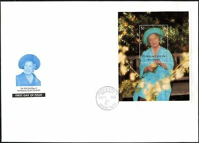 Turks & Caicos Island 1995 The Queen Mother Sheet M/S FDC First Day Cover #V6645
