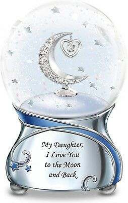 My Daughter, I Love You To The Moon And Back Snowglobe Charm Bradford Exchange
