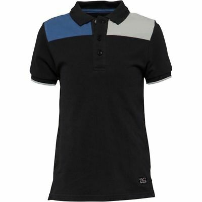 Ben Sherman Boys Cut And Sew Pique Polo, Black, Various Sizes, BNWT, RRP £33.99