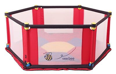 Vee Bee Six Sided Play Yard -  Multi  - Includes Mat