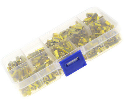 300 x M3 Gold Brass Standoff Spacers Hex 3mm Nut Screw Pillars Assortment Set