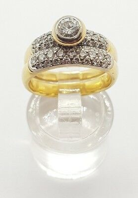 18ct Solid Yellow gold ring with 0.33ct diamond Val $4650