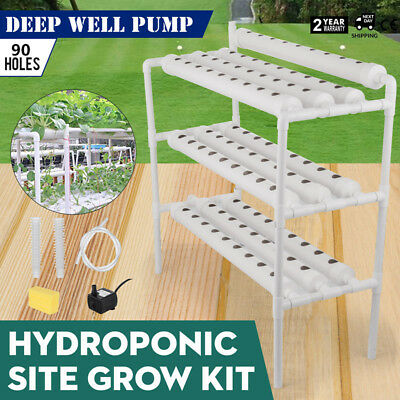 Hydroponic Grow Kit 90 Sites 10 Pipes Garden Plant High-Quality 4ft Hose UPDATED