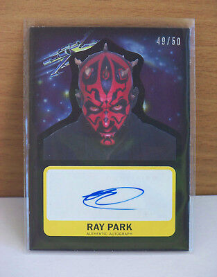 Journey to Star Wars The Force Awakens Ray Park autograph card Darth Maul 49/50