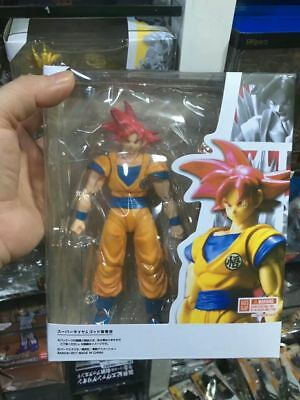 S.H.Figuarts Dragon Ball Z Red Super Saiyan God Red Son Goku Figure Toy Gift New