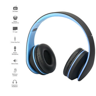 Bluetooth Wireless Headset Stereo Headphone Earphone With Mic For Phone PC LOT