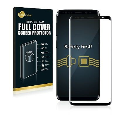 Full Cover Samsung Galaxy S9 Plus 9H Tempered Glass Screen Protector Film black