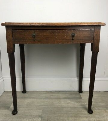Antique Oak Console Hallway Table With Single Drawer JY106